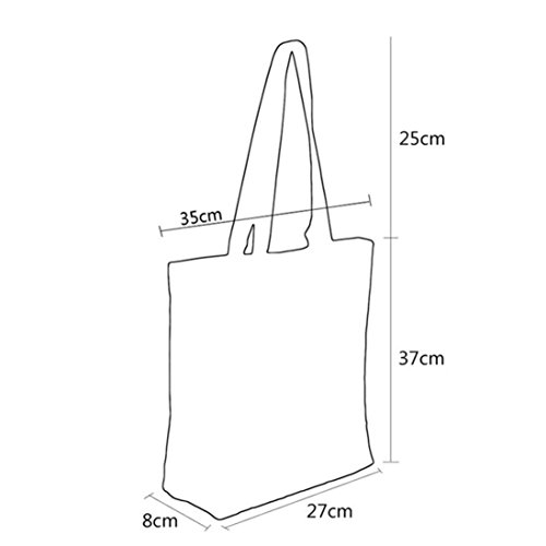 Zarupeng Frauen Eule Druckte Segeltuch Beiläufige Tote Einkaufstasche Handtaschen F