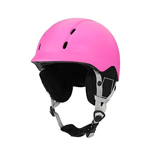 Kinderski-Helm, Abs Shell Detachable Lining Chin and Earmuffs, Winter Ski Klettern Outdoor Optional...
