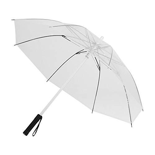 Hemio Kreativen Langen Griff Flash-Regenschirm 8 Knochen Bunten Leuchtenden Regenschirm Farbig TransparenterRegenschirm Cool Farbige Lichter