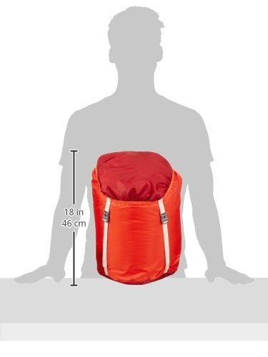VAUDE Unisex Schlafsack Kunstfaser Sioux 1000 SYN, dark indian red, 220 x 80 x 15 cm, 121246520020 - 2