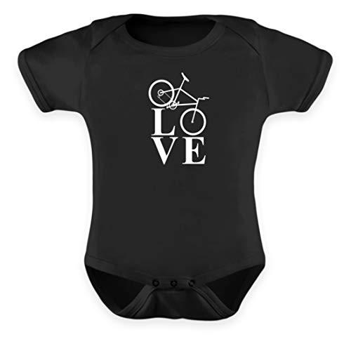 generisch Love Fahrradfahren/Biking/Cycling/Fahrrad/Downhill/Radrennen/Mountain Bike - Baby Body -0-6 Monate-Schwarz -