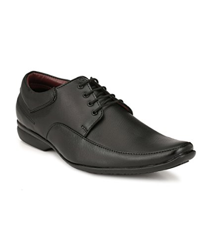 Restinfoot Men's Black Synthetic Leather Formal Shoes - 9