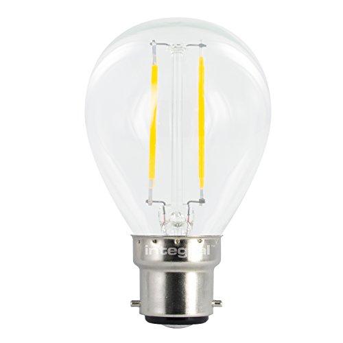 Integral LED-nicht dimmbar Breite Abstrahlwinkel Golfball Mini Globe Leuchtmittel (B22Bajonett, 2W LED, 2700K, 250lm)-Warm Weiß Integral Led