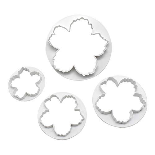 BESTONZON 4 stücke DIY Backform Kunststoff Blume Form stanzen Kekse Ausstechformen Kuchen Fondant Shaping Mold Küche Werkzeug -