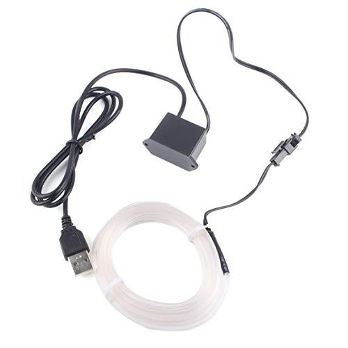 Rouge 1M Jasnyfall LED EL Lumi/ère Neon Corde De Danse De Voiture Glow Light Bande 3 V // 12 V Contr/ôleur USB Drive D/écoration De Voiture Lumi/ère De Voiture Styling Parti D/écoration