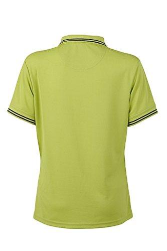 JAMES & NICHOLSON Femme Polo fonctionnel tres agréable a porter jaune acide/carbon