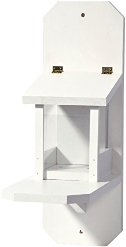 dobar 22229e Eichhörnchen-Futterstation in edlem, große XL, weiß