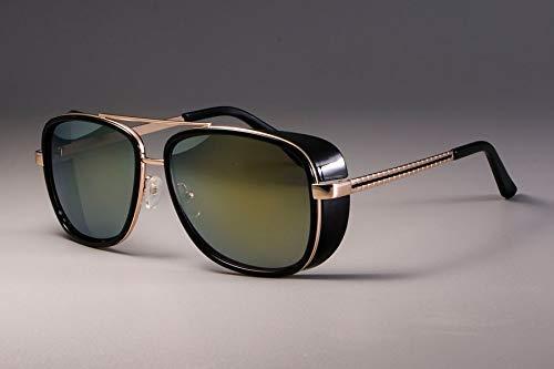 GFF Iron Man 3 Matsuda Tony Sonnenbrillen Herren Verspiegelte Brillen Fashion Eyewear UV-Schutz