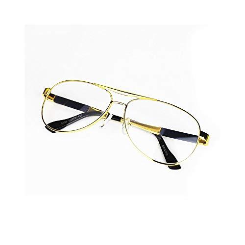 WULE-RYP Polarisierte Sonnenbrille mit UV-Schutz Aviator Sonnenbrille für Herrenmode, Kristalllinse, UV-Schutz. Superleichtes Rahmen-Fischen, das Golf fährt (Farbe : Golden)