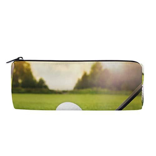 Wamika Stifteetui für Golfschläger und Ball auf Gras bei Sonnenuntergang für Damen Make-up-Tasche, Kosmetik-Aufbewahrungstasche