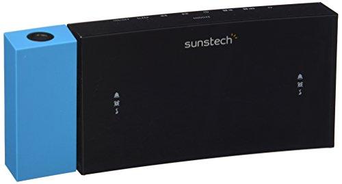 Sunstech FRDP3 - Radio despertador con proyector horario USB de carga, función sleep y alarma dual...