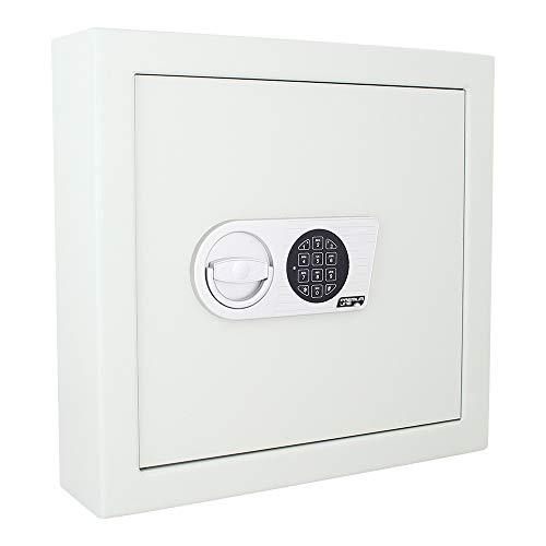Profirst Tripolo 70 Schlüsseltresor zertifiziert nach VDMA 24992 Stufe A., mit Elektronikschloss, dreiseitiger Bolzenverriegelung, B46 x H43.6 x T14 cm , 22 KG, inkl. Befestigungsmaterial