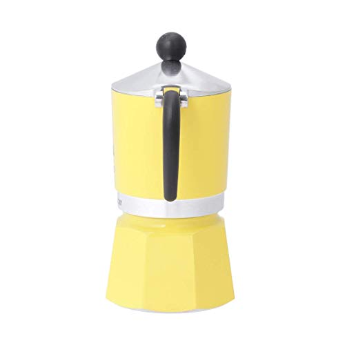 Bialetti Rainbow Aluminium Stovetop Coffee Maker (3 Cup) – Yellow