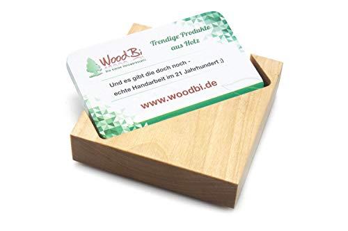 Visitenkartenbox aus Holz | Visitenkartenhalter aus Holz | Visitenkartenständer | Original von WOODBI® (Birke) -