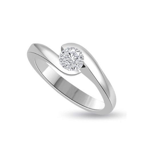 0.25ct G/VS1 Solitario Diamante Fidanzamento Anello da Donna con Rotonda Brillante diamante in 18kt Oro (0.25 Ct Anello Di Fidanzamento Anello Di Fidanzamento)
