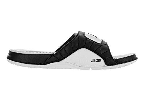 Nike Mens Jordan Hydro XII Retro Leather Sandals Noir Blanc