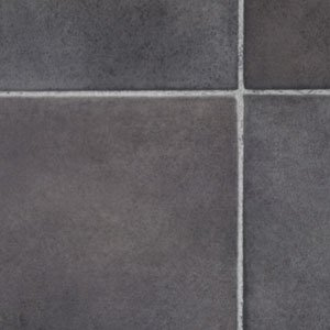 Black Slate Tile Effect Vinyl Flooring 3x2m Kitchen Vinyl Floors