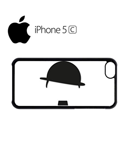 Hat and Moustache Comedy Mobile Cell Phone Case Cover iPhone 5c Black Weiß