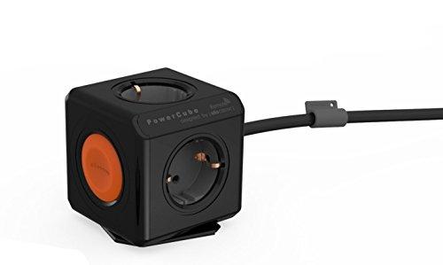 Power Cube 1513BK/EUEXRM Erweiterte Fernbedienung Single Mehrfachsteckleiste (1,5 mm) schwarz