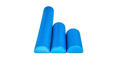 Functional Fitness Eva Foam Roller - 12x6 inch Half Round Massaging