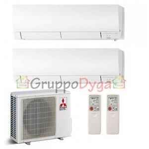 Climatizzatore Mitsubishi Electric Dual Inverter Kirigamine Fh 12+12+Mxz-2D53Va