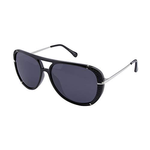 ActiveSol Dione | Polarisierte Sonnenbrille Damen | Design Pilotenbrille Retro modern - groß | polarisiert | 100% UV Schutz | Sonne und Strand | 26 g (Schwarz-Silber)