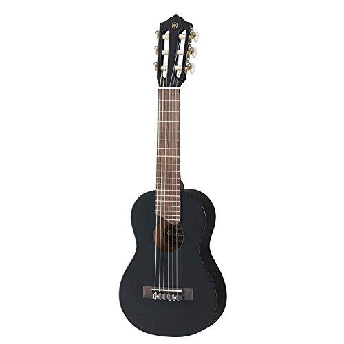 Yamaha GL1 Guitalele -  Mini Guitarra de Madera con las dimensiones de un Ukelele, escala de 17 pulgadas, 6 cuerdas (3 en nylon / 3 en acero), color Negro