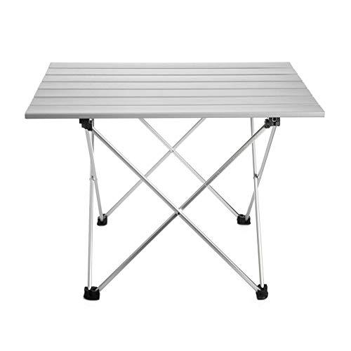 LYFHL-Folding table Aluminium Klapptisch, Roll Up Ultraleicht Aluminium Tischplatte mit Tragetasche for Picknick Camping Wandern Reisen Angeln Strand BBQ (Size : Small)