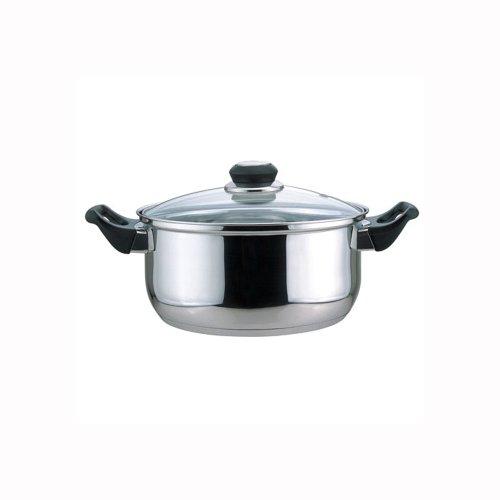 Culinary Edge 01005 Dutch Oven mit Glasdeckel, 5,5 l Bakelit Dutch Oven