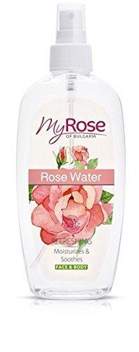 Rose Spray D'eau pour visage et corps avec Rosa Damascena Huile - Rafraîchit, Humidifiant & Apaise 220ml
