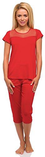 Merry Style Ensemble de Pyjama Femme Mod?le 522 Rouge