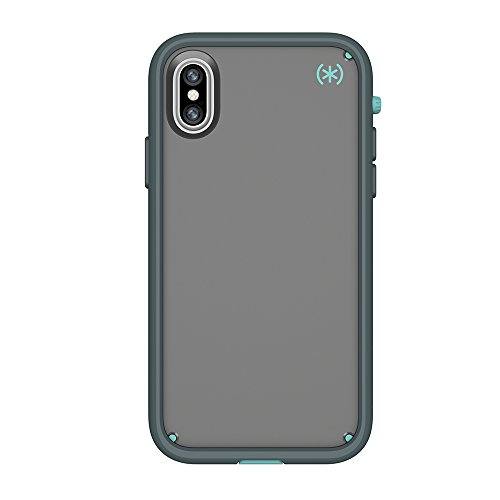 Speck 104050-3054  Schutzhülle für Apple iPhone X schwarz Sand Grey/Surf Teal/Mountainside Grey