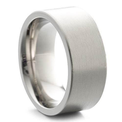 Heideman Ring Damen und Herren Paari aus Edelstahl Silber Farben poliert oder matt Damenring für Frauen und Männer Partnerringe 9mm breit schmaler Ring strichmatt Gr.62 hr7013-4-62