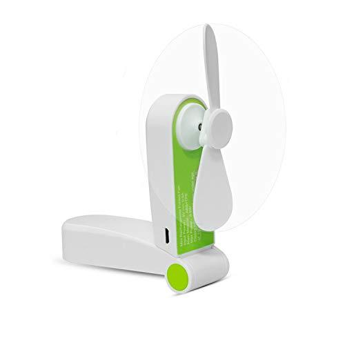 Tuokay Ventilateur Rechargeable Portatif de Mini Fan de Ventilateur Portatif Avec le Câble d'USB Idéal pour Voyage, Camping, Maison, Bureau, Classe