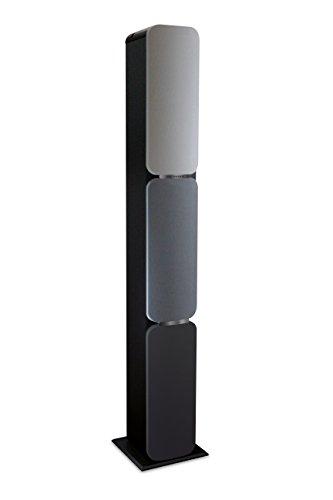 Metronic 477092 Sound Tower Colonna Bluetooth 2x120W con telecomando, Radio, Shades of gray