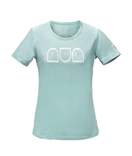 Cavallo Damen Basic-Shirt MINA (Frühjahr/Sommer 2019), Thyme, 34