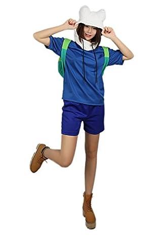 Finn T-shirt Suit Cosplay Costume Top Short Set avec Cute