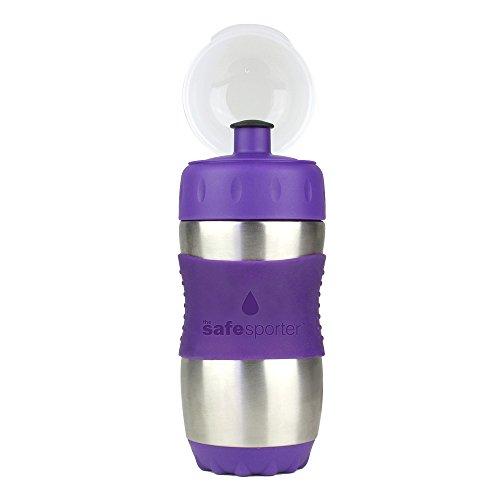 Kid-Basix-Gourde-en-Inox-avec-Silicone-Violet-350-ml