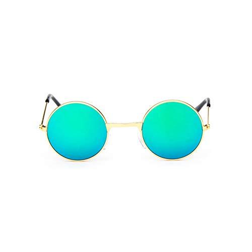 Sonnenbrille Coole Retro Schwarz Blau Runde Kids Sonnenbrille Little Girl/Boy Baby Kind Brille Schutzbrille Uv400 Kleines Gesicht Gold Grün