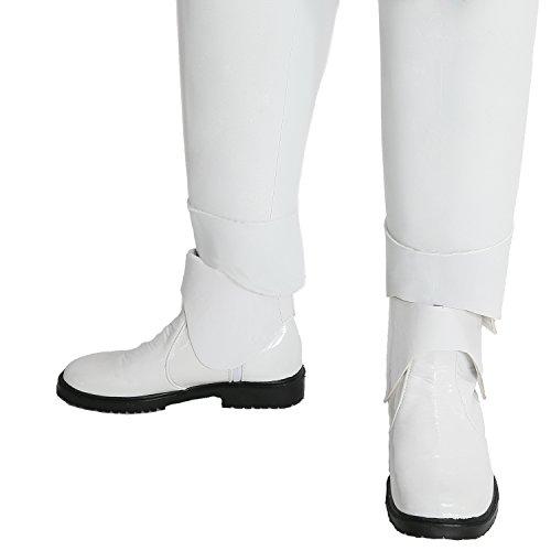 Xcoser Stormtrooper Schuhe Shoes SW7 Film Cosplay Kostüm Zubehör Weiß PU Stiefel Boots (Ren Stiefeln)