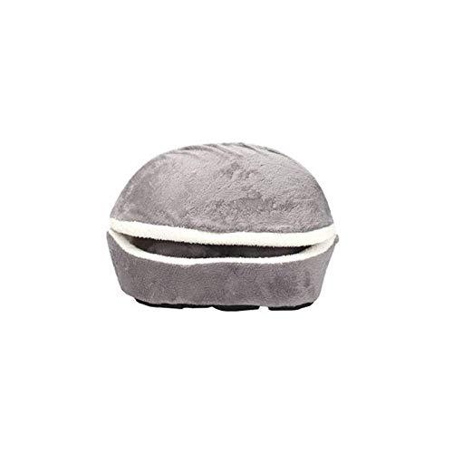 Hamburger Muschel Katzenstreu abnehmbar winddicht warm Haustier liefert Hundehütte grau 46 * 35 * 26CM (Hundehütte Deodorizer)