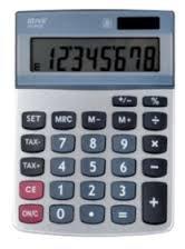 Office Depot Tischrechner AT-812T 10 25 x 14 35 x 3 05 cm Silber/Grau
