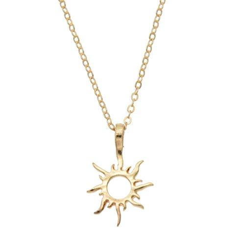 Kesheng Collier Soleil Pendentif Fantaisie Bijoux Accessoire (doré)