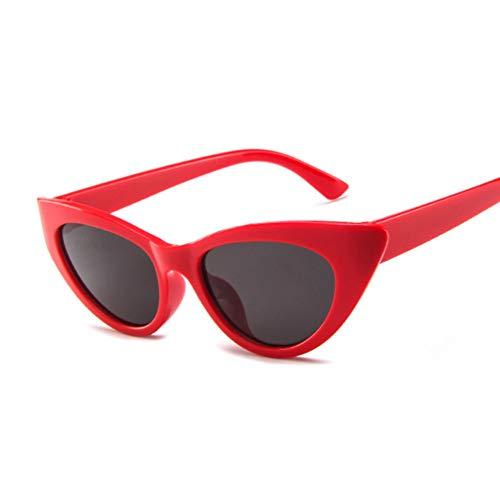 Chudanba Cat Eye Sonnenbrillen Damen Sonnenbrillen Damen Brillen Shades UV400,Red Gray