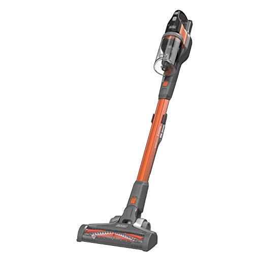 Black & Decker BHFEV182B-QW, Aspirateur Balai Powerseries sans fil-18 V-sans Batterie-Autonomie Min-Base de Charge-Embout suceur Plat, Orange, 40 W, 650 milliliters