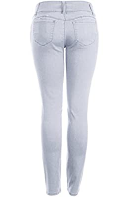 2LUV Women's Butt Lift 3-Button High Waisted Stretchy Jegging Feeling Skinny Jeans