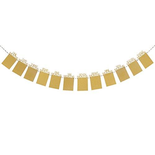 12 Monate für Baby 1st Geburtstag Party Dekoration Glitzer (Gold) (Erster Geburtstag Party Dekorationen)
