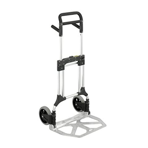 Safco Products 4055NC Stow-Away Heavy Duty Utility Hand Truck, Silver/Black by Safco Products