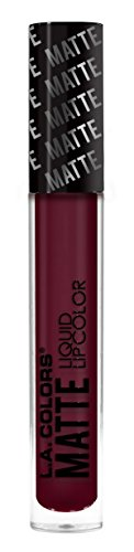 L.A. Colors Matte Liquid Lip Color, Danger Maroon, 3.9g