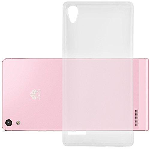 Cadorabo DE-104204 Huawei P6 Handyhülle aus TPU Silikon im Ultra Slim 'AIR' Design Soft Back Cover Case Bumper Voll-Transparent